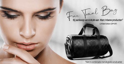 Skinshop marc inbane travel bag actie 2020 banner marc inbane1