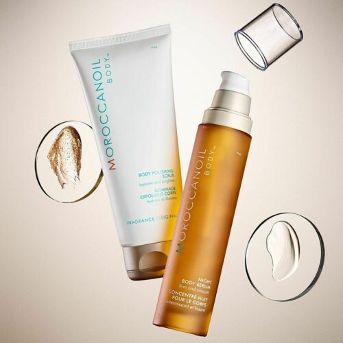Night Body Serum & Body Polishing Scrub Pakket